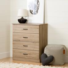 4-Drawer Chest Dresser - Rustic Oak