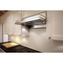 """30"""" Terazzo Under-Cabinet Hood with Decorative Rail Stainless Steel"""