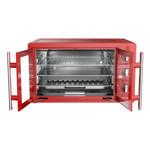 Galanz 1.5 Cu Ft Retro French Door Toaster Oven with Air Fry in Hot Rod Red