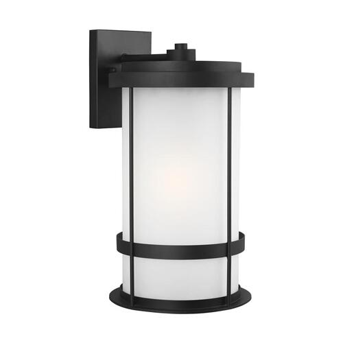 Wilburn Extra Large One Light Outdoor Wall Lantern Black
