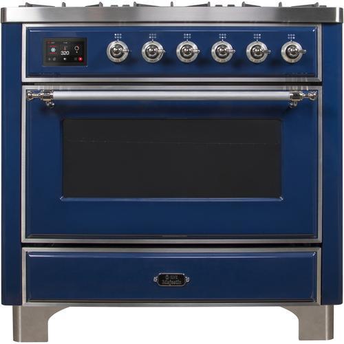 36 Inch Blue Dual Fuel Liquid Propane Freestanding Range