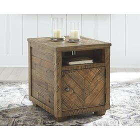 Grindleburg Rectangular End Table Grayish Brown