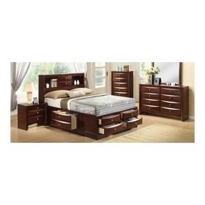 6 PC Bedroom - Queen Storage Bed, Dresser, Mirror, Nightstand