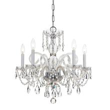 See Details - Traditional Crystal 5 Light Crystal Chrome Chandelier