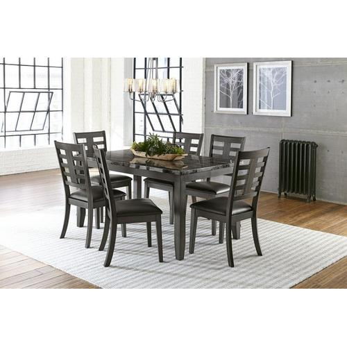 Standard Furniture - Canaan 7 Piece Dining Table Set, Black