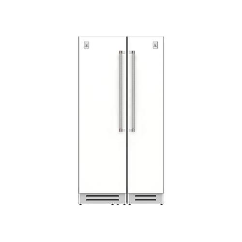 "Hestan - 42"" Column Refrigerator (L) and Freezer ® Ensemble Refrigeration Suite - Froth"