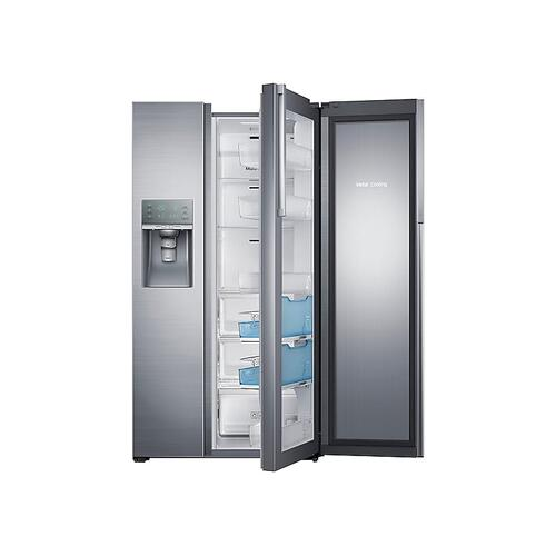 (Open Box ) 22 cu. ft. Food Showcase Counter Depth Side-by-Side Refrigerator with Metal Cooling in Stainless Steel