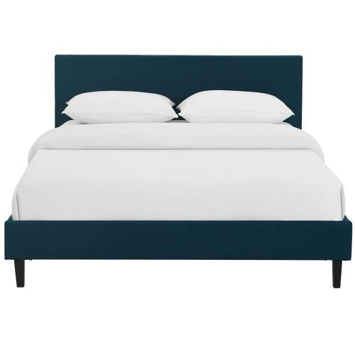 Modway - Anya Full Fabric Bed in Azure