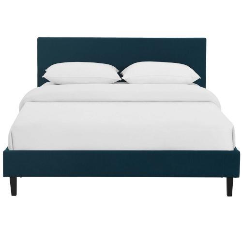 Anya Full Fabric Bed in Azure