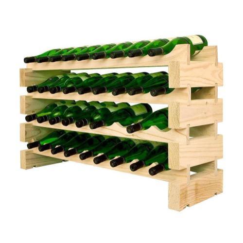 4 x 9 Bottle Modular Wine Rack (Natural)