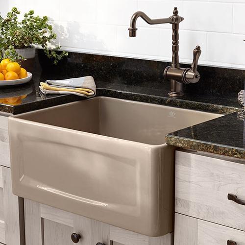 Dxv - Hillside 24 Inch Apron Kitchen Sink - Oyster