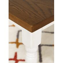 Rectangular Dining Table, Vanilla White and Honey Brown