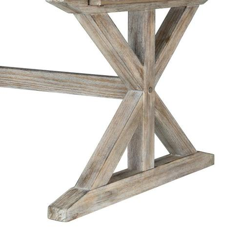 """Standard Furniture - Jefferson Trestle Dining Table with 16"""" Leaf, Distressed Brown"""