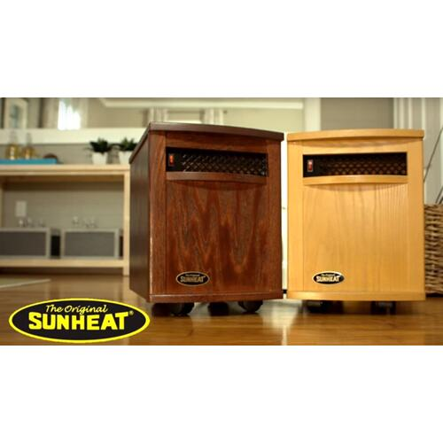 Amish Hand Crafted SUNHEAT Infrared Heater - Nebraska Oak