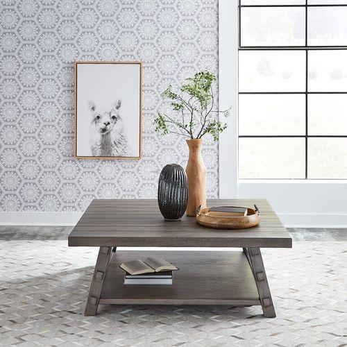 Liberty Furniture Industries - Oversized Square Cocktail Table