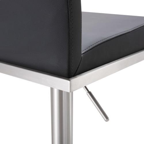 Tov Furniture - Amalfi Black Stainless Steel Barstool