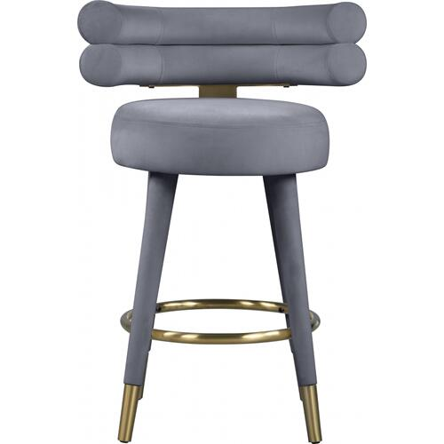 "Fitzroy Velvet Counter Stool - 25"" W x 21"" D x 35"" H"