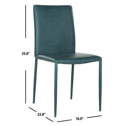 Karna 19''h Dining Chair - Antique Teal