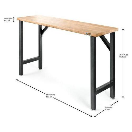 "66-1/2"" Wide Hardwood Modular Workbench"