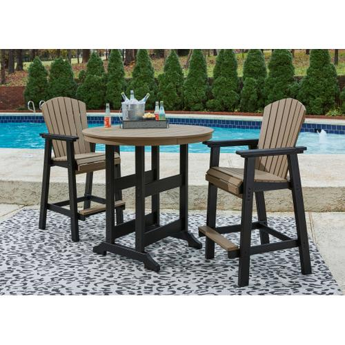 See Details - Outdoor Bar Table and 2 Barstools