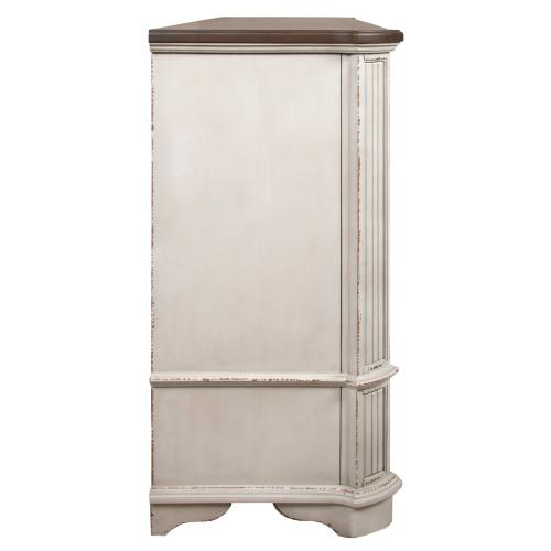 Dresser with 9 Drawers, Available in Antique White only.
