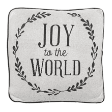 """Joy to the World"" Pillow"