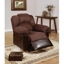 Izem Reclining/Motion Loveseat Sofa or Recliner, Chocolate-plush-micro-fiber, Glider-recliner