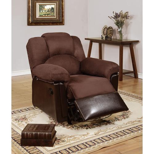 Gallery - Izem Reclining/Motion Loveseat Sofa or Recliner, Chocolate-plush-micro-fiber, Glider-recliner