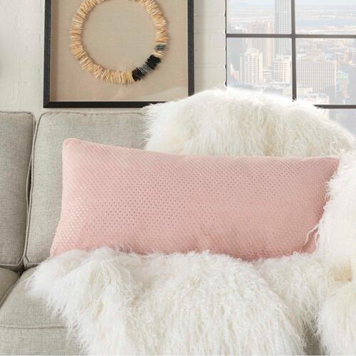 "Fur Vv021 Blush 1'2"" X 2'6"" Throw Pillow"