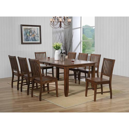 Extendable Table Dining Set w/Sideboard - Amish (10 Pieces)