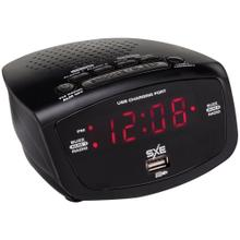 LED Clock Radio with 1-Amp USB
