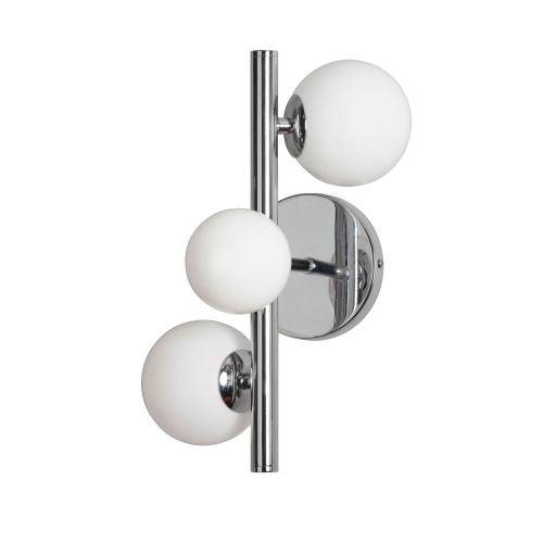 3lt Halogen Wall Sconce PC W/ Painted Wh Glass
