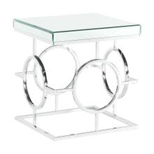 See Details - Pearl Square Mirrored End Table