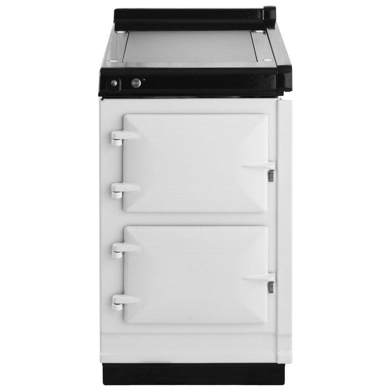 """AGA Hotcupboard 20"""" Electric White with Stainless Steel trim"""