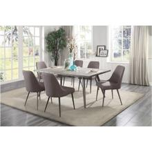 Homelegance 5626-70 5626S Palladium Collection 7PC Dinette Set (Table and 6 Side Chairs)