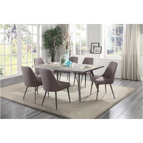 Homelegance - Homelegance 5626-70 5626S Palladium Collection 7PC Dinette Set (Table and 6 Side Chairs)