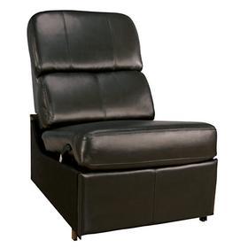 Black No Arm Reclining Chair
