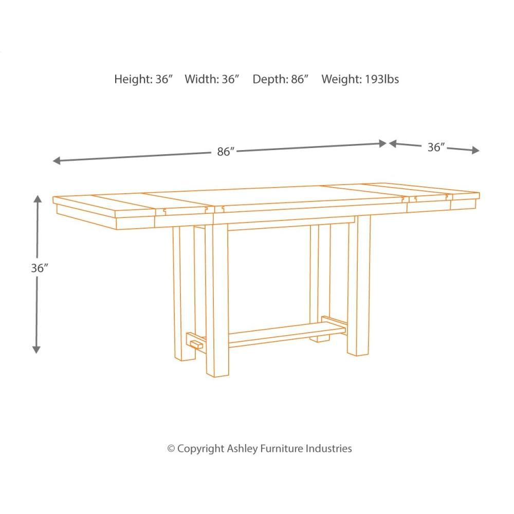 Product Image - Counter Height Dining Table and 4 Barstools and Bench