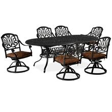 See Details - 6658-345 Capri Gray 7 Piece Dining Set