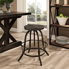 See Details - Collect Wood Top Bar Stool in Black