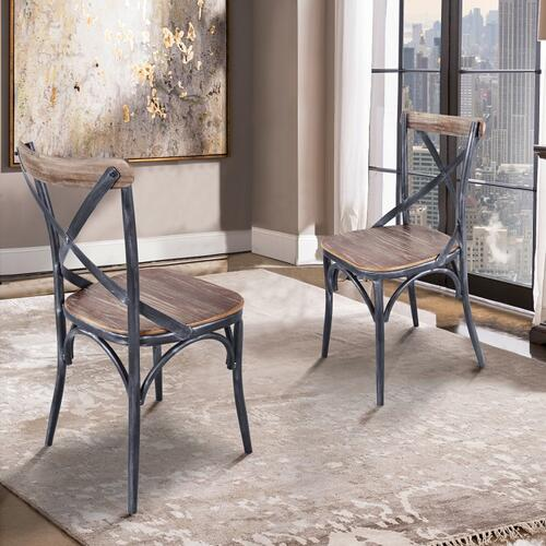 Armen Living Sloan Industrial Dining Chair