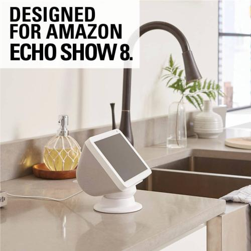 White Amazon Echo Show 8 Tilt & Swivel Stand