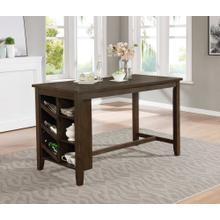 7897 Wire Brushed Counter Height Table