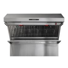 "Forno Alta Qualita FRHWM5029-48 48"" Range Hood 1200 CFM With Red Light Warmers / Shelf / Back Splash Baffle Filters, All Stainless Steel"
