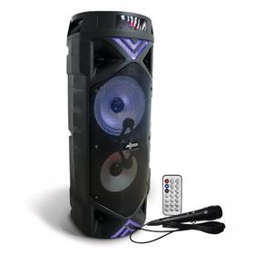 "Double 6.5"" LED Portable 500W Bluetooth® PA Speaker, LWS Link, TF, USB, AUX, FM Radio - PABT6022"