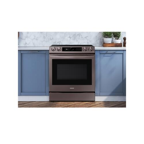 6.3 cu. ft. Front Control Slide-in Electric Range with Smart Dial, Air Fry & Wi-Fi in Tuscan Stainless Steel