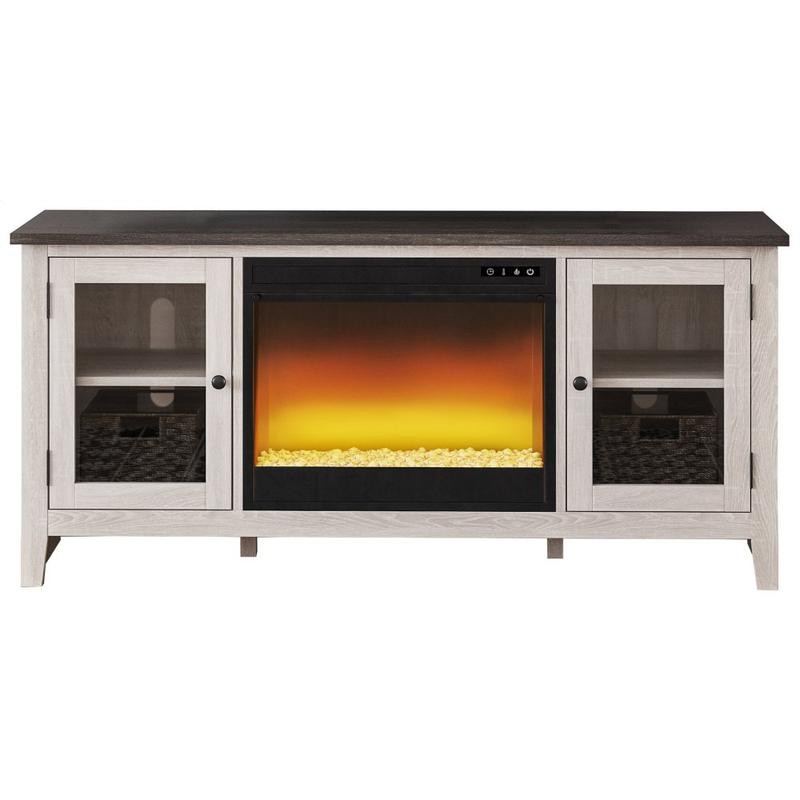 """View Product - Dorrinson 60"""" TV Stand With Electric Fireplace"""