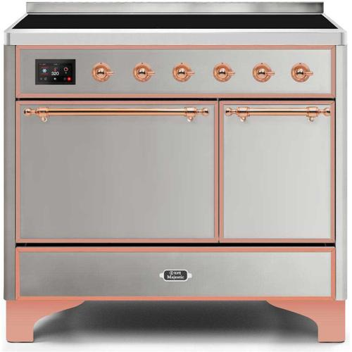 Majestic II 40 Inch Electric Freestanding Range in Stainless Steel with Copper Trim