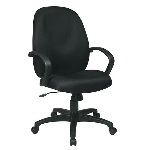 Office Star - Executive High Back Managers Chair With Fabric Back