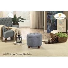 Storage Ottoman Blue